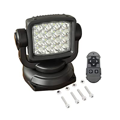 Lightronic 80W 10000 Lumens Long-Range Spot Beam Off-Road Wireless Remote Control LED Search Light 1-Piece: Automotive