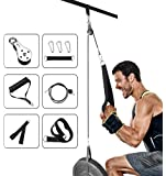 Elikliv Cable Pulley Attachments System for Gym, Wrist Trainer Arm Strength Training Equipment Home Triceps Pulley…