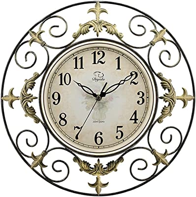 Amazon Com Geneva Clock Wrought Iron Wall Clock 14 Inch