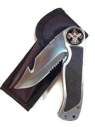 Amazon.com: Boy Scouts logotipo en cuchillos de acero ...