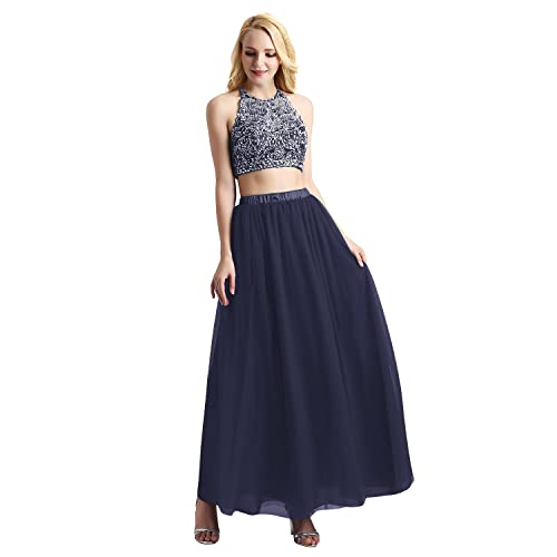 Bridesmay Womens Long Tulle Skirt Maxi Prom Evening Gown Bridesmaid Formal Skirt