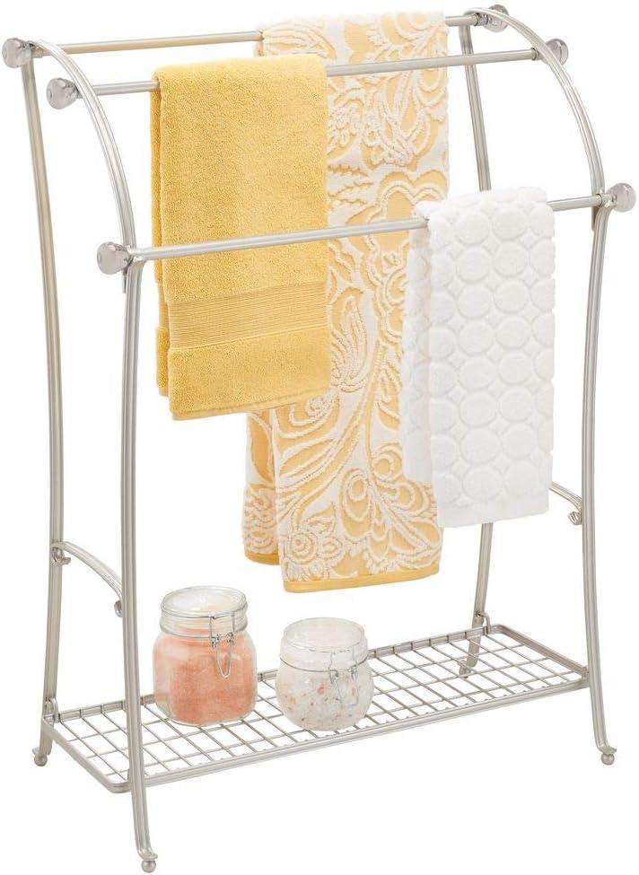 mDesign Large Freestanding Towel Rack for Bathroom