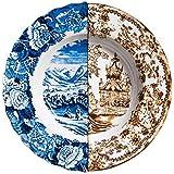 """SELETTI Piatto Fondo in Porcellana Ø Cm.25,4 H.4,2""""Hybrid-Sofronia"""