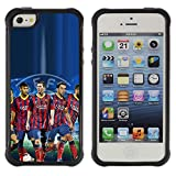 King Case@ Barcelona Soccer Team Rugged hybrid Protection Impact Case Cover For iphone 5S CASE Cover ,iphone 5 5S case,iphone5S plus cover ,Cases for iphone 5 5S