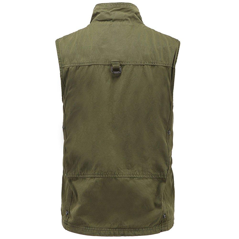 Zhuhaitf Mens Fishing Mountain Walking Vest Gilet Waistcoat Jacket Father Gift