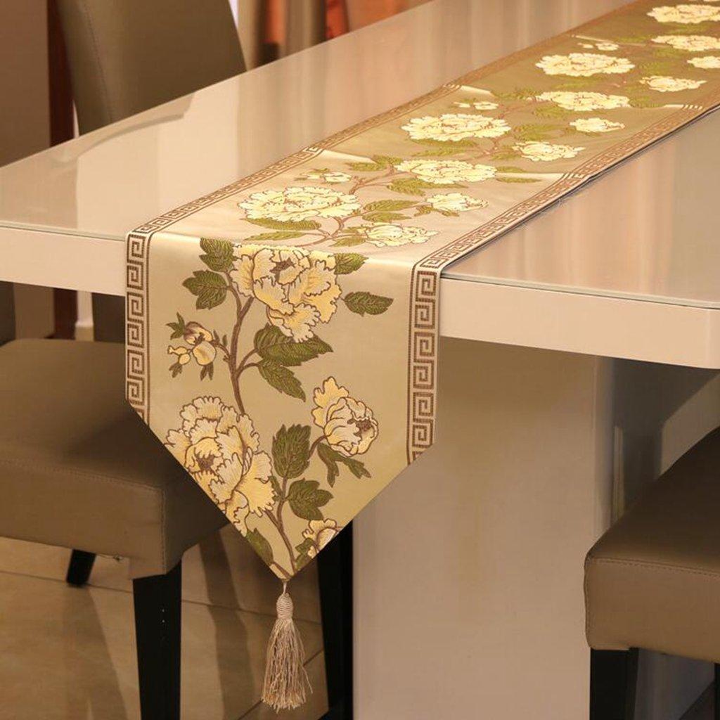 daeou刺繍、テーブルランナー、ファッション、ヨーロッパスタイル、布 32*250cm 6953135655321 32*250cm B B0753DJMRG