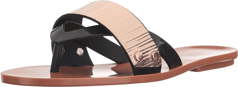 a45da03961e7c Amazon.com   Melissa Women's Cream Slide Sandals, Brown, 5 B(M) US   Sandals