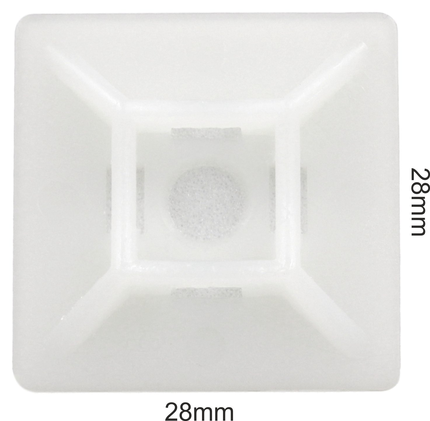 intervisio Klebesockel für Kabelbinder 28 mm x 28mm Montagesockel ...