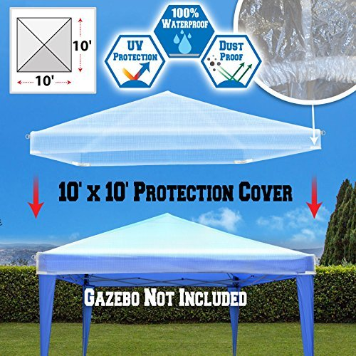 BenefitUSA Outdoor Canopy Protective Cover for Pop Up Party Tent Waterproof Protect (10'x10') by BenefitUSA