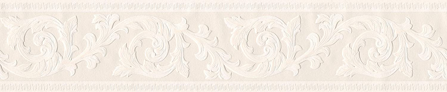 A.S Cr/éation Bord/üre Only Borders Borte 5,00 m x 0,13 m beige creme Made in Germany 282729 2827-29