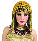 Charades Women's Cleopatra Wig with Attached Headpiece, Black/Gold, One Size