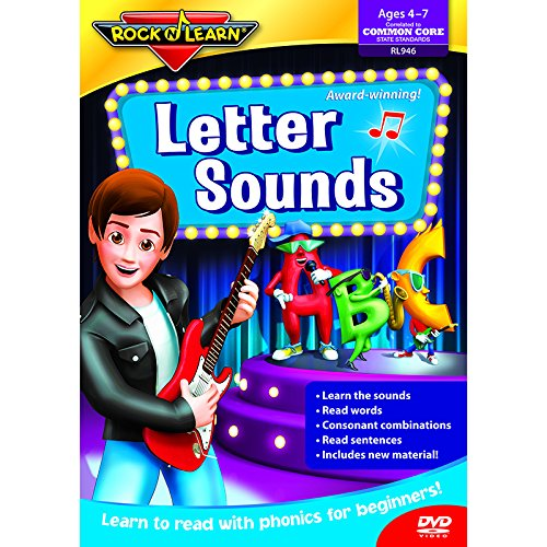 ROCK N LEARN LETTER SOUNDS DVD (Set of 6)