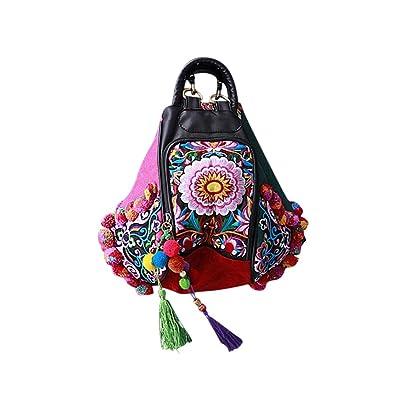 Dos Main 100 Fait Besace à d'Art Femme Sac Broderie Oriental Tribal HI7Aw7x5q