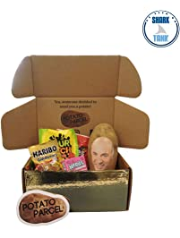 Classy Potato Gift Bundle - Your image and/or message on a real potato! Includes assorted candy and gold surprise gift...