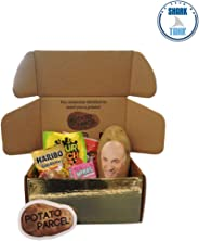 Classy Potato Gift Bundle - Your image and/or message on a real potato! Includes assorted candy and gold surprise gift box. As seen on Shark Tank!