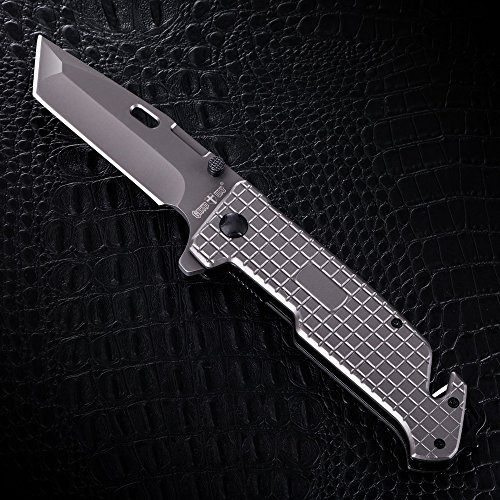 Grand Way Tanto Spring Assisted Pocket Knife - Pocket Folding Knife - Military Style - Boy Scouts Knife - Tactical Knife - Good for Camping, Indoor and Outdoor Activities FL 13069 by Grand Way (Image #2)
