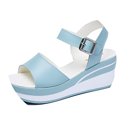 053783888fc High end White Flat Sandals Wedges Heel Summer Women Open Toe Platform  Gladiator Sandals 8626
