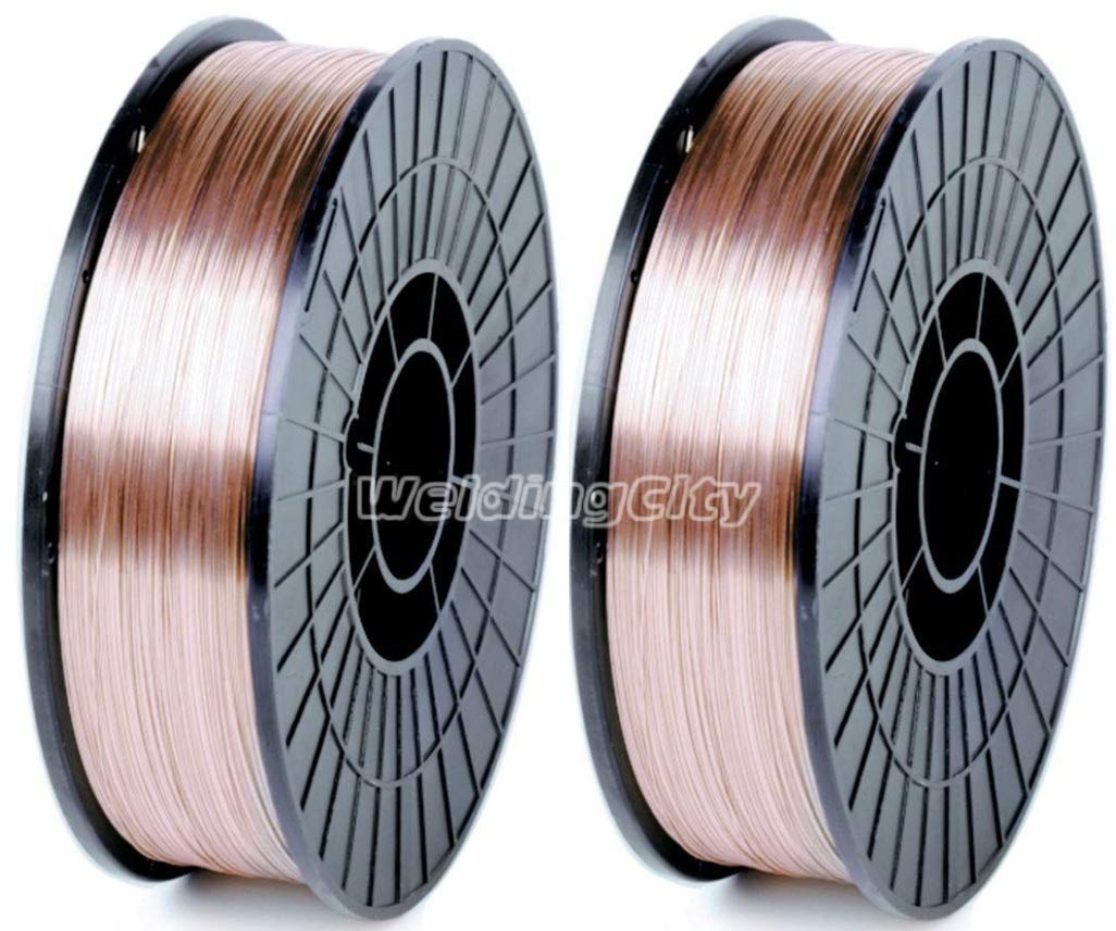 WeldingCity 2 Rolls of ER70S-6 ER70S6 Mild Steel MIG Welding Wire 11-Lb Spool 0.030'' (0.8mm) by WeldingCity