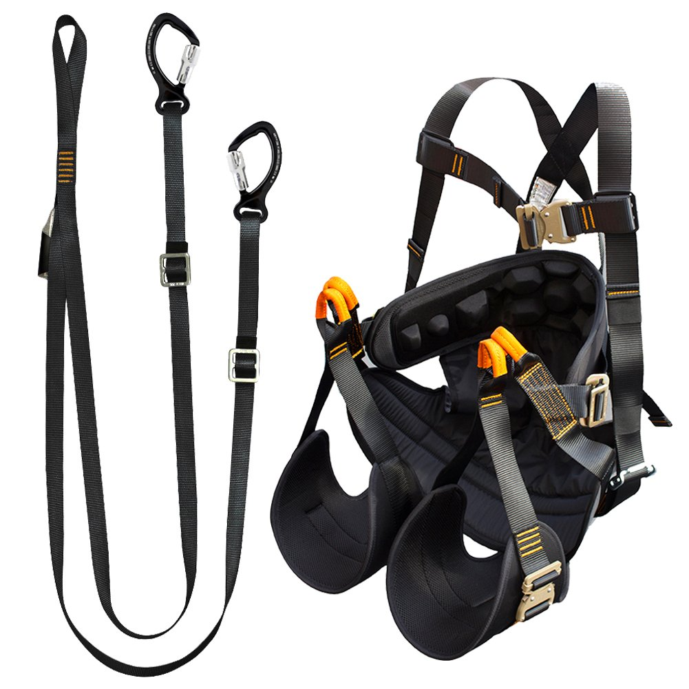 Fusion Climb Pro Backyard Zip Line Kit cablaggio cordino Bundle FK-A-HL-14