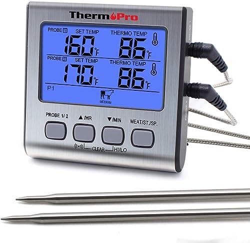 Cyfrowy termometr do gotowania mięsa ThermoPro TP-17 z podwójną sondą