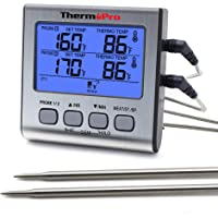 ThermoPro TP17 Dual Probe Digital Cooking Meat Thermometer Large LCD Backlight Food Grill Thermometer with Timer