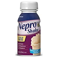 Nepro Nutrition Shake for People on Dialysis, with 19 Grams of Protein, 420 Calories, Vanilla, 8 fl oz, 16 Count