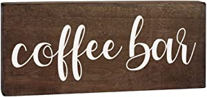Elegant Signs Coffee Bar Sign - Coffee Station Decor - Farmhouse Kitchen Plaque 5.5x12 Rustic Wood Wall Art Office Decoration or Counter Accent