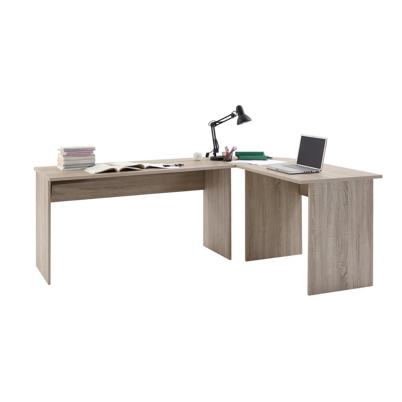 LHS Tilly Canadian Oak Finished Corner Home Office Computer Desk by DMF