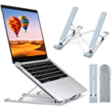 TEUMI Laptop Stand Adjustable 9-Levels Height, Aluminum Portable Ergonomic Computer Stand Cooling Pad, Ventilated Laptop…