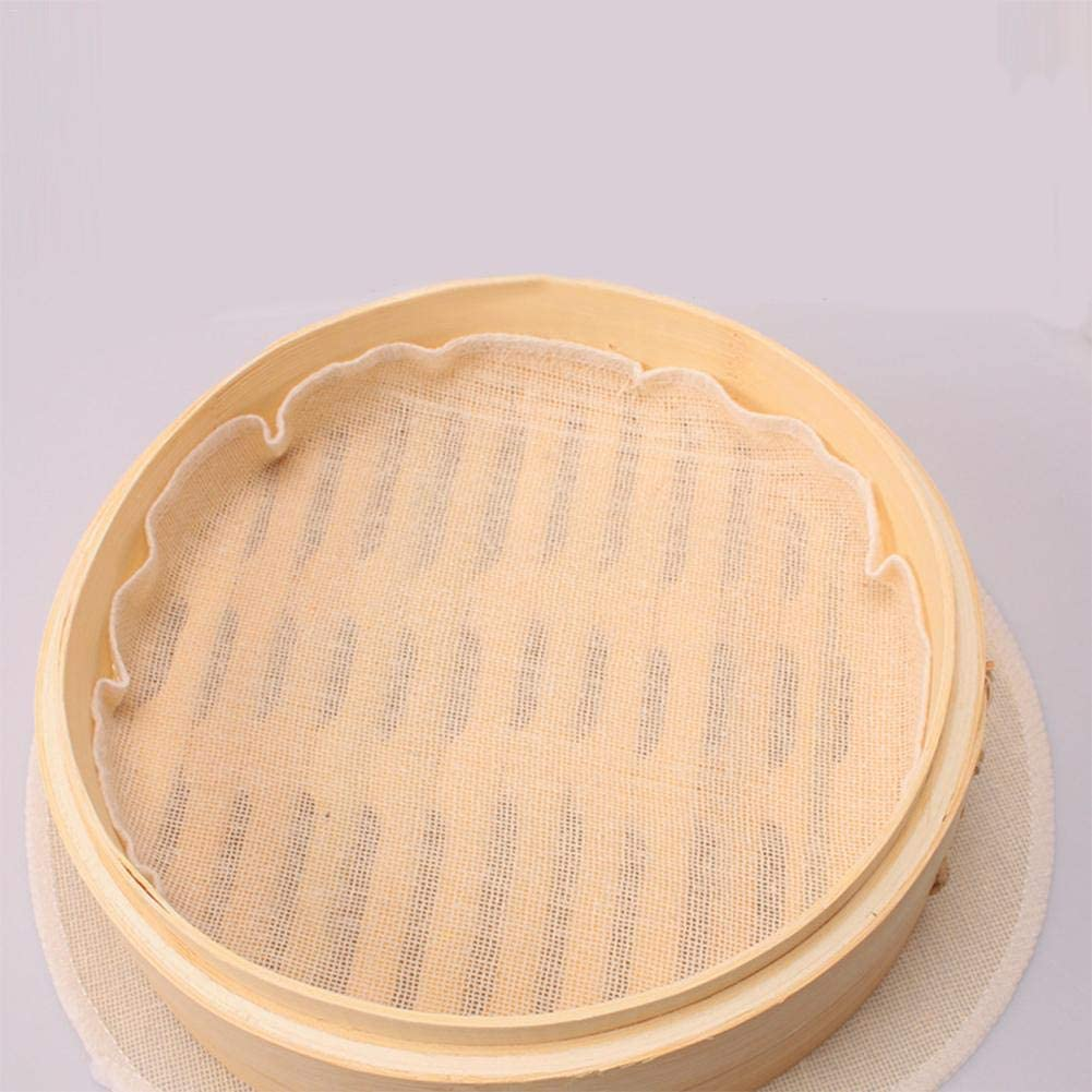 Hangarone Ronde Cuit Vapeur en Bambou Papiers Dim Sum Vapeur Convient pour Brioches Shantou