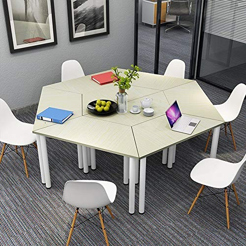 Splicing Combination Table and Chair, Library Multi-Functional Study Table, Simple Hexagonal Triangular trapezoidal Desk