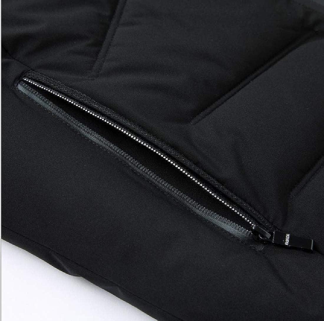 Coolred-Men Thicken Stand Collar Regular-Fit Comfort Windproof Jacket