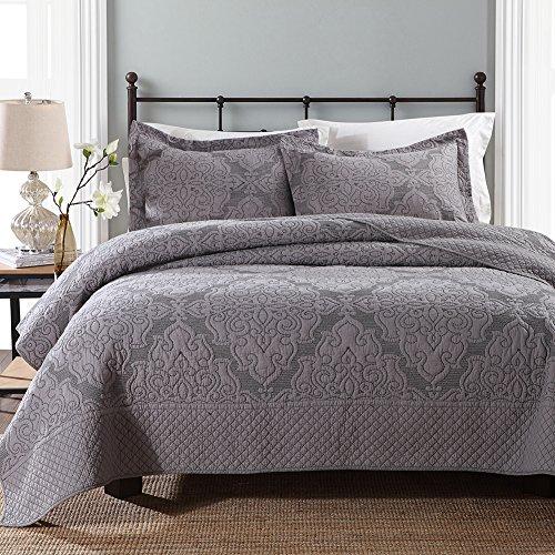 quilt set queen grey - 9