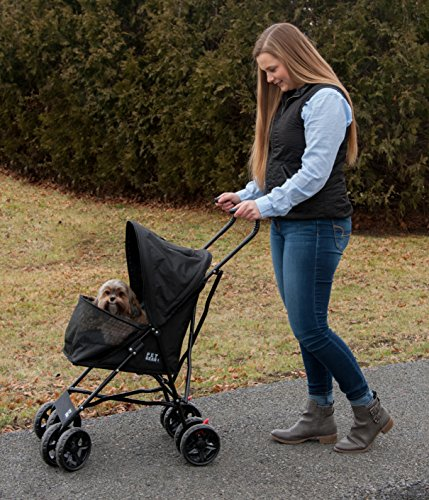 Pet-Gear-Travel-Lite-Pet-Stroller-for-Cats-and-Dogs-up-to-15-pounds-Black