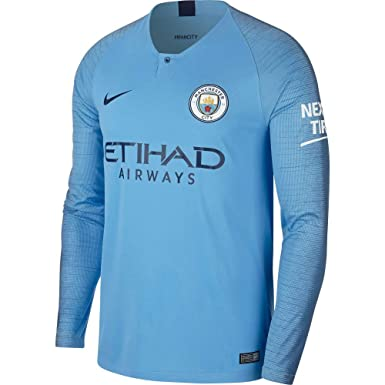online retailer cd32d c0985 Amazon.com: Nike Manchester City Home L/S Jersey 2018-19 ...
