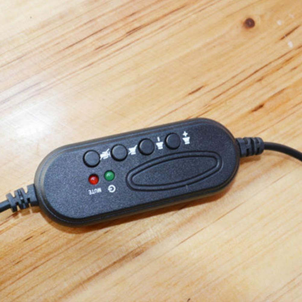Cicony USB-Headset mit Mikrofon f/ür PC Laptop-Ger/äuschunterdr/ückung Kabelgebundenes Headset f/ür gesch/äftliche Telefonkonferenzen Skype Online-Unterricht