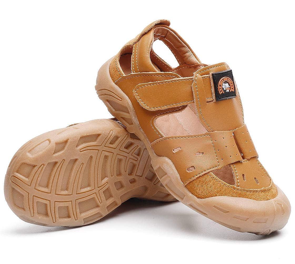 DADAWEN Boys Girls Summer Leather Closed-Toe Outdoor Sport Fisherman Sandal Toddler//Little Kid//Big Kid