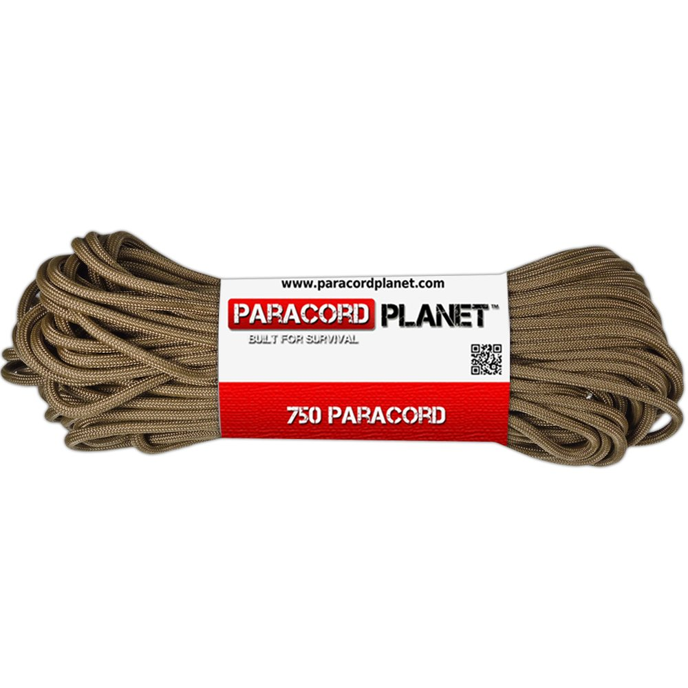 50 25 Available in 10 PARACORD PLANET 750 LB Type IV Paracord Authentic Parachute Cord 11 Core Inner Strands Minimum Break Strength of 750 lb 100 Foot Hanks and 250 /& 1000 Foot Spools ParacordPlanet