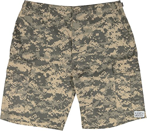 Army Universe ACU Digital Camouflage Military BDU Cargo Shorts Pin Size Medium (Waist 31-35