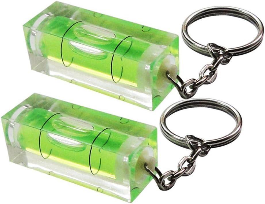 2 St/üCk Nrpfell Wasserwaage Keyring Keychain Tool DIY Gadget Neuheit Geschenk Wasserwaage