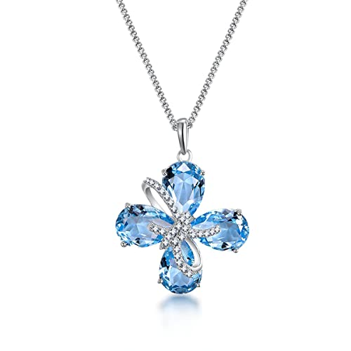 ZIOZIA Snowflake Pendant Necklaces for Women Made with Swarovski Crystal for Girls