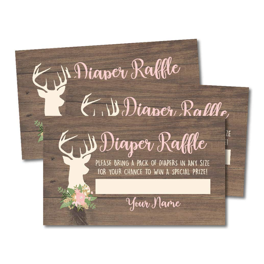 88ba9c6cbd97 Amazon.com  25 Oh Deer Books for Baby Request Insert Card for Girl ...