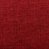 Home Brilliant Decoration Supersoft Linen Square Throw Toss Pillows Cushion Covers for Car, Burgundy, 18x18 inch, Set of 4
