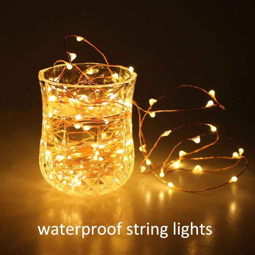Gr/ün Lichterkette,FeiliandaJJ 5M 50pcs Wasserdichte Solar-Deko-Lichterkette LED Licht Hochzeit Party Halloween Xmas Innen//Au/ßen Haus Deko String Lights