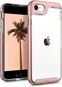 Caseology Skyfall for Apple iPhone SE 2020 Case for iPhone 8 Case (2017) for iPhone 7 Case (2016) - Rose Gold