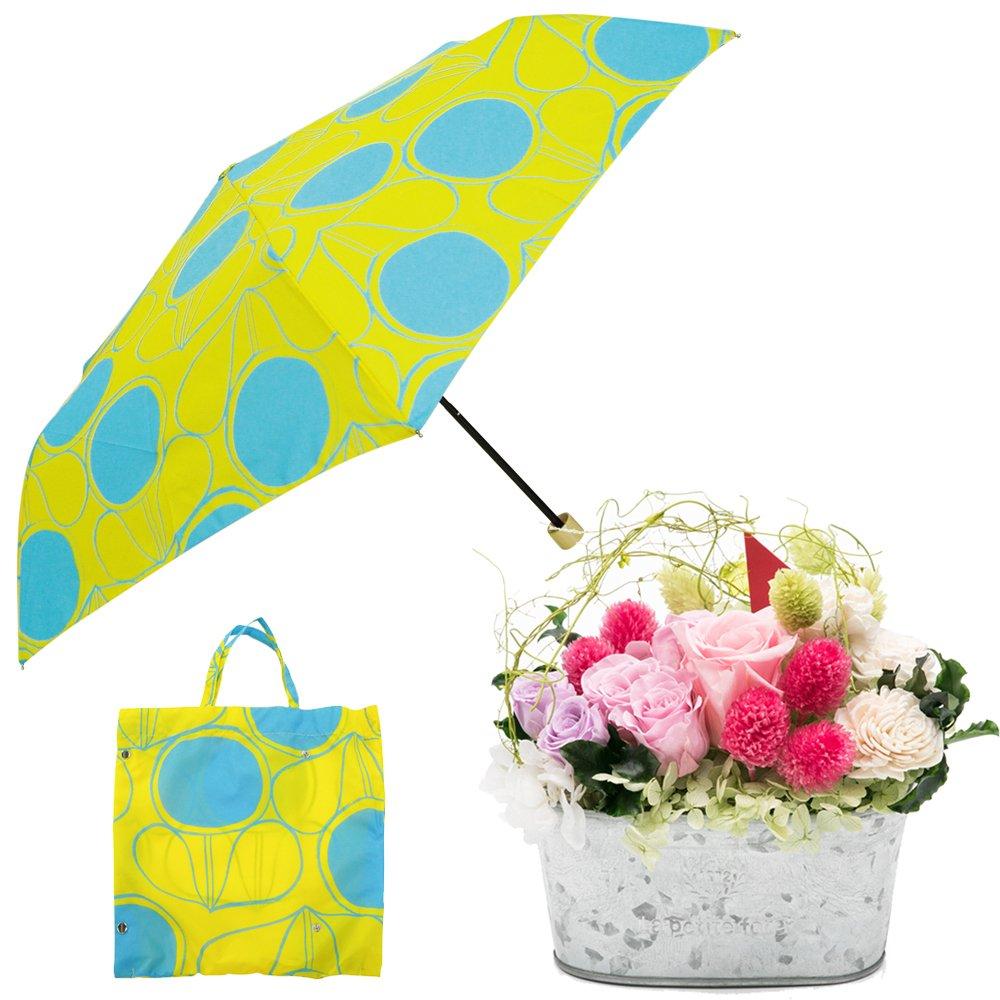 母の日ギフト プリザーブドフラワーと折り畳み傘のギフトセット B07CJ3GDW5 お花:Lサイズ|レシオ レシオ お花:Lサイズ