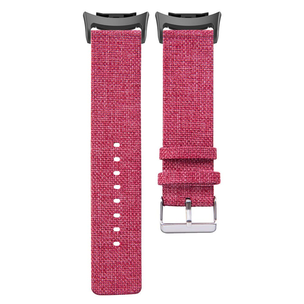 samLIKE Compatible Gear Fit2 Pro/ Fit2 Strap, Woven Fabric Replacement Samsung Gear Fit 2 Pro Smartwatch Sport Strap,Gift (Red)