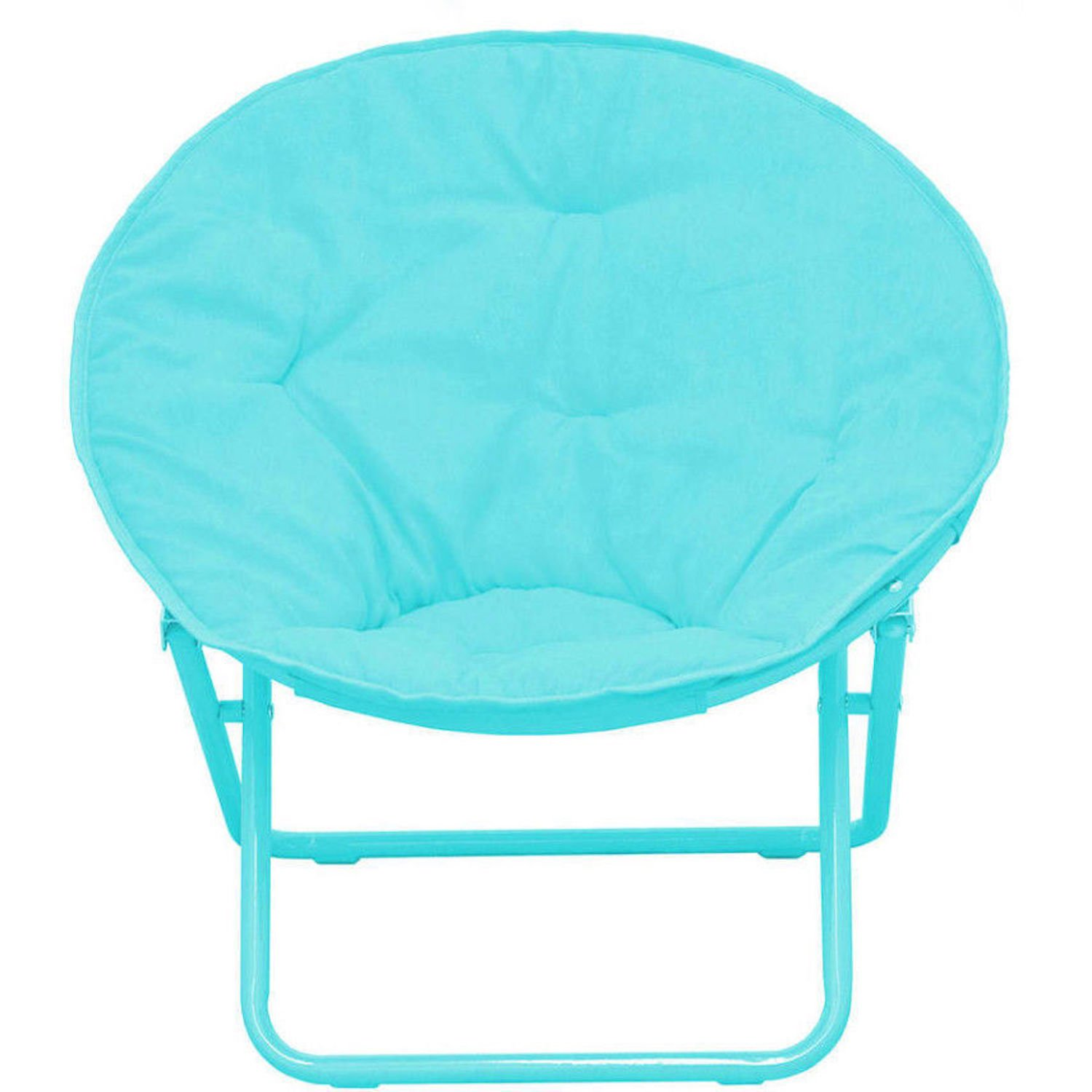 American Kids Solid Faux-Fur Saucer Chair, Color: Teal by American Kids