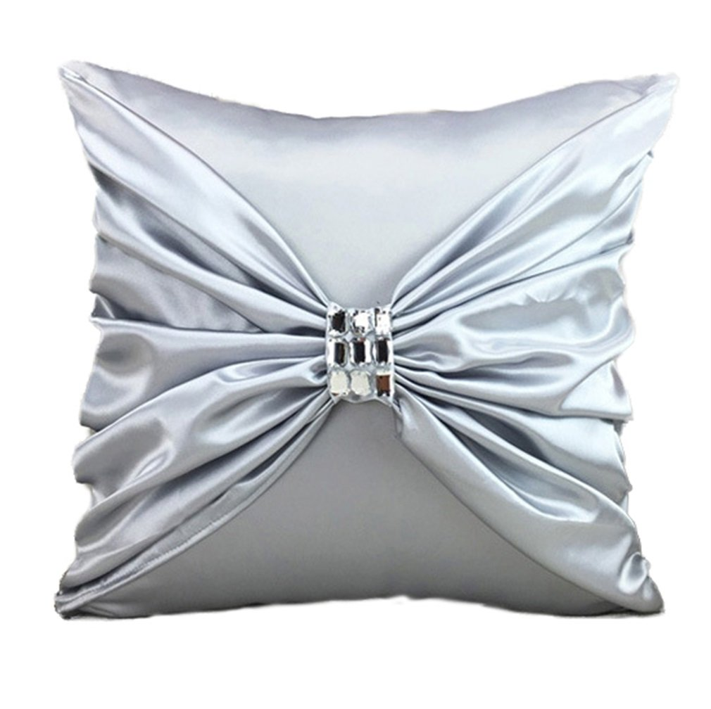 Nunubee Blue Satin Pillow Cushion pillow Decorative For Sofa Bed Square 45X45 CM 7005F0930-BU-I