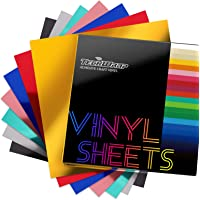 """TECKWRAP Holographic Chrome Adhesive Craft Vinyl Precut Sheets 12"""" x 12"""" 7 Sheets/Pack for Craft Cutters,Sign Plotters"""